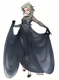 Dark Elsa by Miyuli