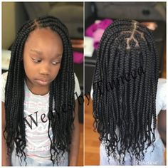 All styles of box braids to sublimate her hair afro On long box braids, everything is allowed! For fans of all kinds of buns, Afro braids in XXL bun bun work as well as the low glamorous bun Zoe Kravitz. Crochet Braids Hairstyles For Kids, Box Braids Hairstyles For Black Women, Lil Girl Hairstyles, Kids Braided Hairstyles, My Hairstyle, Crochet Hair Styles, Crochet Braids For Kids, Teenage Hairstyles, Unique Hairstyles