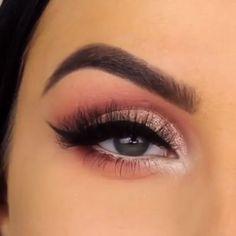 Lovely Eye Makeup For Girls Eye makeup Eye makeup tutorial Pink makeup Makeup Makeup videos Makeup tutorial - Lovely Eye Makeup For Girls - Rose Gold Makeup, Pink Makeup, Day Makeup, Girls Makeup, Makeup Inspo, Makeup Inspiration, Makeup Tips, Beauty Makeup, Prom Eye Makeup