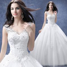 A24 sexy v collar princess bride wedding dress 2016 new simple backless lace sleeveless lace-up floor-length a-line wedding gown