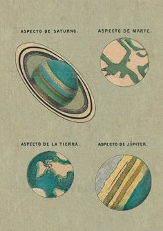 Astronomy Print Postert Solar System Planets Saturn Mars Earth Jupiter Vintage Image Wall Art by TheCuratorsPrints on Etsy Pseudo Science, Science And Nature, Eclipse Solar Y Lunar, Constellations, Mars And Earth, Solar System Planets, Vintage Space, Space And Astronomy, Astronomy Facts