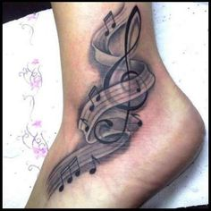 Music Note Tattoo Meanings And Ideas Music Note Tattoos