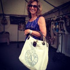"@selinavaughanstudios's photo: ""Love that smile! Another happy customer at our tent in Brimfield!"""