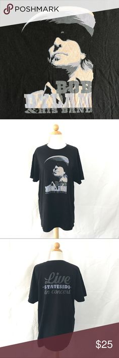 Bob Dylan & His Band Live Stateside Concert Shirt One of the greatest of all time! Shirt is in good shape, a little bit of discoloration but plenty of life left. There's not tag on the inside but I've included a pit to pit measurement photo. None Shirts Tees - Short Sleeve