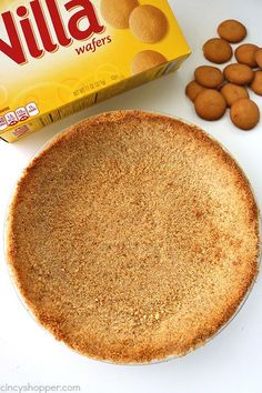 Homemade Nilla Wafer Pie Crust- perfect start for so many of your favorite pie fillings. So easy to Cheesecake Crust, Homemade Cheesecake, Homemade Pie Crusts, Pie Crust Recipes, Pie Fillings, Homemade Breads, Cheesecake Recipes, Vanilla Wafer Pie Crust Recipe, Nilla Wafer Recipes
