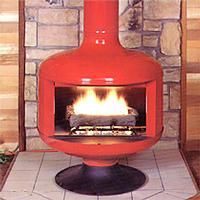 Contemporary Freestanding Fireplace from Malm Fireplaces, Model: GF2