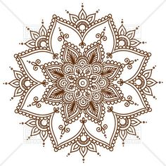 Brown round floral mandala, 28999, download royalty-free vector clipart (EPS)