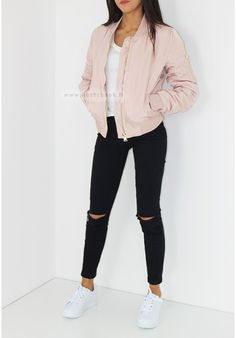 bomber jacket - Is recently becoming a huge trend right now because lots of fashion icons are wearing them.