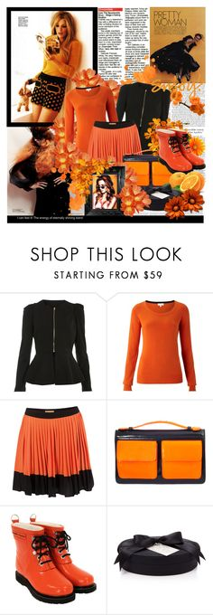 """Two Tone Only"" by frism ❤ liked on Polyvore featuring Miss Selfridge, Silvian Heach, Marc by Marc Jacobs, Ilse Jacobsen Hornbaek, D.L. & Co., Linda Horn, orange hues, black fashion and orange fashion"