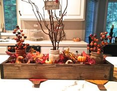 33 Greatest Thanksgiving Centerpiece Ideas To Your Inspire Wooden Centerpieces, Fall Table Centerpieces, Thanksgiving Centerpieces, Centerpiece Decorations, Floral Centerpieces, Diy Thanksgiving, Wedding Centerpieces, Fall Mason Jars, Painted Wooden Boxes