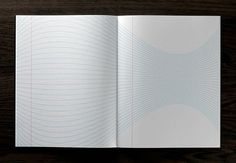 this notebook is really neat. the lines are shaped differently on each page, which would make neat optical illusions out of your handwriting. this would be a really cool journal.