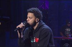 J.Cole brings his hometown pride to David Letterman.