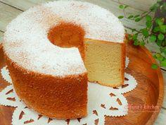 楓糖戚風蛋糕食譜、作法   hanaskitchen的多多開伙食譜分享