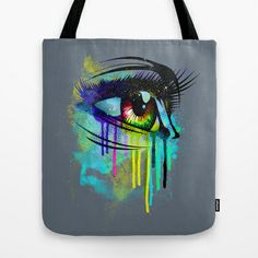 Tears of Colors Tote Bag by moncheng - $22.00