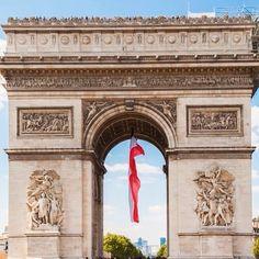 Arc de triomphe! #paris #france #napoleon #passionpassport #travelandleisure Triomphe, Travel And Leisure, Napoleon, Paris France, Taj Mahal, Building, Instagram Posts, Buildings, Construction