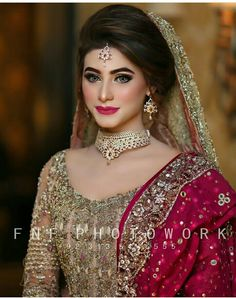 Bridal Red Eye Makeup Makeup Beauty Tips Top Ten Bridal Look Bridal Red Eye Makeup Top 13 Indian Bridal Makeup Ideas Which Are Trending Right Now. Bridal Red Eye Makeup Asian Pakistani Bridal Eye Makeup Made Eas. Pakistani Bridal Makeup, Pakistani Wedding Outfits, Bridal Outfits, Pakistani Wedding Hairstyles, Pakistan Wedding, Desi Bride, Desi Wedding, Wedding Bride, Bridal Makeover