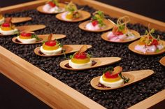Cool hors d'oeuvres from Feast Your Eyes and FOH in July/August 2011
