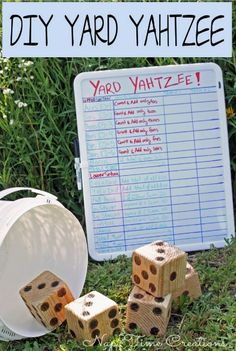 DIY Yard Yahtzee | Transform a game of regular Yahtzee into Yard Yahtzee.
