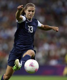 USA's Alex Morgan chases the ball in a game against Japan during the second half of play at Wembley Stadium in a gold medal soccer match during the London 2012 Olympics on Thursday, August 9, 2012 in London. USA defeated Japan 2-1 to win gold for the third Olympics in a row.
