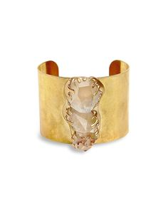 Rock Out Cuff - wow. love the rough cut stones and the organic feel
