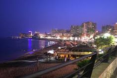 Benalmádena's beaches at night...