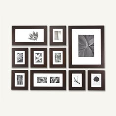 picture wall kit comes with simple way to hang this grouping.