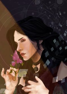 """ari-daughma: """" Working on a DA:I tarot card-esque thing of Yennefer, inspired by a Bouguereau painting I saw. """""""