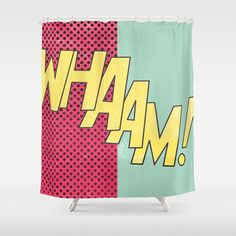 POP ART Shower Curtain - curtains for kid's room? Looove them !