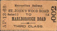 An early Metropolitan Railway ticket