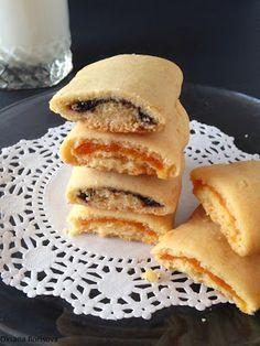 Кулинарные моменты: Песочные полосочки Küchlein mit Pflaumen oder Aprikosen-Füllung Little Cakes with Jam / Marmelade