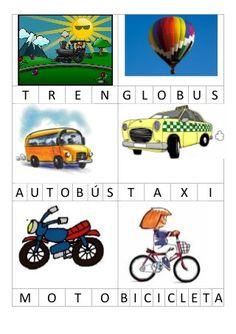 Bingo lletres Irregular Verbs, How To Speak Spanish, Vocabulary, Transportation, Language, Activities, Kids, Valencia, Caption