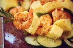 Rosemary Pineapple Shrimp Skewers For more health recipes- http://www.flipbelt.com/?utm_source=Win-PR&utm_medium=PR&utm_campaign=Win-PR
