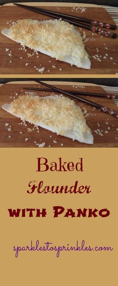This baked flounder with panko bread crumbs is so delicious & a great healthy meal.  My kids love it! Pin for Later! #flounder #fish #healthy #healthyliving #seafood