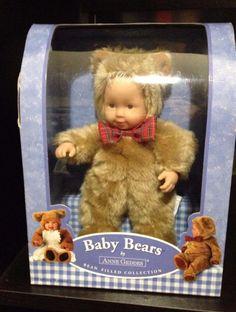 Baby Bears by Anne Geddes Bean Filled Collection NO. 542921 #AnneGeddes #BeanFilledBearCollectible