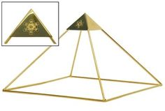 Gold-Plated Copper Ascension Meditation Head Pyramid with Etched Metatron's Cube Capstone for Healing My Pyramid, Copper Pyramid, Pyramid House, Meditation Music, Cosmos, Buddha, Christ, Plating, Crystals