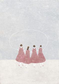 Illustration by Akira Kusaka Akira, Creative Arts Therapy, Beautiful Drawings, Figurative Art, Art Paintings, Cute Art, Illustrations Posters, Art Inspo, Art Drawings