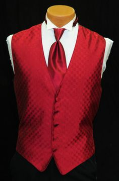 these would be the groomsmen vest with black pants and black ties not a red one. (Robie, Tommy, Camden, ect...)