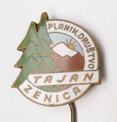 GV.12) YUGOSLAVIA Bosnia Zenica Tajan Mountaineering Club / vintage enameled pin | eBay