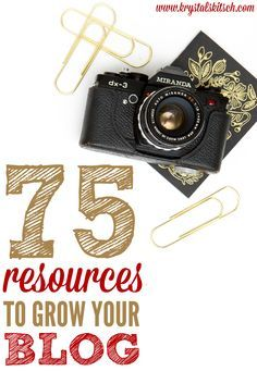 Need a blog boost? Try these blog resources to upgrade your website!  75 Blog Resources for Busy Bloggers by Krystal's Kitsch