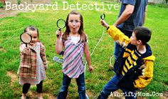Boredom buster! Be a backyard detective this summer. I bet the kids will find all sorts of great things!
