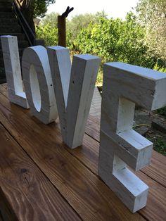 LOVE 30cm Bois de palette decoration de mariage amour