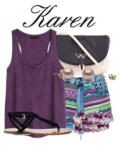 """Karen-Mermaids Melody"" by blueangel16-001 ❤ liked on Polyvore featuring Ezra, Bambam, H&M, Sole Society and Honora"
