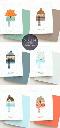 Warmest Wishes Holiday Cards | One Plus One Design