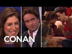 CONAN Highlight: Mayim & Johnny shared their first on-screen kiss back in the '90s but adamantly refuse to recreate it. Unless...
