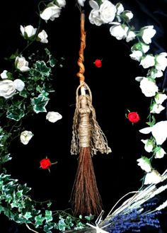 Goddess Besom made with atural jute by positivelypagan.com