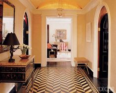 Wood floor - Neoclassical Brian McCarthy Interior Design Photos - ELLE DECOR