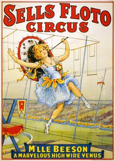 Sparks Circus High Wire Exploits Vintage Poster Prints, Signs, Canvas, More