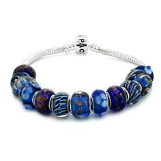 """Coastal Creations Beads """"Signature Look"""" on 7 Inch Silver Plated Bracelet with Barrel Clasp Pacific Beads. $39.95"""