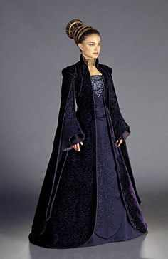Padme Amidala. I like the dress, just not the choker or weird thingy in her hair