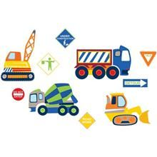 Construction Zone Removable Wall Decals - WallPops for Kids Wall Art